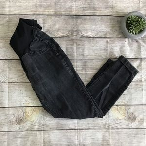 Jessica Simpson Black Destructed Cuffed Jeans